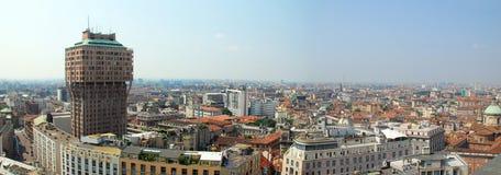 włochy Milan panoramiczny widok Fotografia Royalty Free