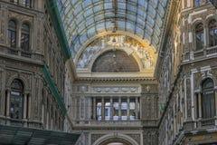 Włochy, Naples, 02,01,2018 Umberto galeria Obrazy Stock