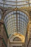 Włochy, Naples, 02,01,2018 Umberto galeria Zdjęcie Stock
