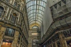 Włochy, Naples, 02,01,2018 Umberto galeria Zdjęcie Royalty Free