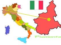 włochy Piemonte ilustracji