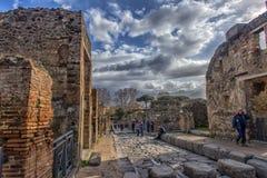 Włochy, Pompei, 02,01,2018 ulica w Pompeii, Włochy Fotografia Stock