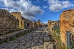 Włochy, Pompei, 02,01,2018 ulica w Pompeii, Włochy Pompeii jest a Zdjęcia Royalty Free