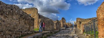 Włochy, Pompei, 02,01,2018 ulica w Pompeii, Włochy Pompeii jest a Obrazy Royalty Free