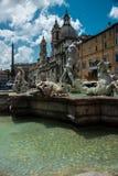 W?ochy, Rome, piazza navona Antyk, fontanna zdjęcie stock