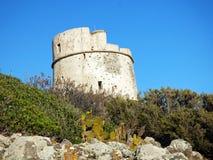 Włochy, Sardinia, Sant Antioco, Coaquaddus i Cannai, górujemy obrazy stock