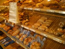 Włochy sklep piekarni chleb Zdjęcia Stock