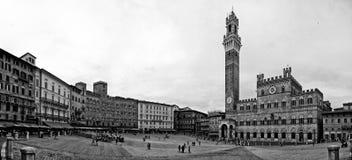 Włochy, Toskanka, Siena, Piazza Del Campo Zdjęcie Stock