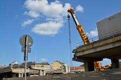 włochy Turin Rozbiórka wiadukt Corso Grosseto Obrazy Royalty Free