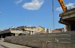 włochy Turin Rozbiórka wiadukt Corso Grosseto Zdjęcia Stock