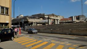 włochy Turin Rozbiórka wiadukt Corso Grosseto Obrazy Stock