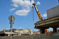 włochy Turin Rozbiórka wiadukt Corso Grosseto Fotografia Royalty Free