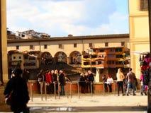 Włochy, Tuscany, Florencja Ponte Vecchio most Zdjęcia Stock