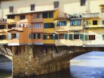 Włochy, Tuscany, Florencja Ponte Vecchio most Obraz Royalty Free