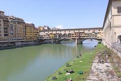 Włochy Vuew Ponte Vecchio w Florencja Obrazy Royalty Free