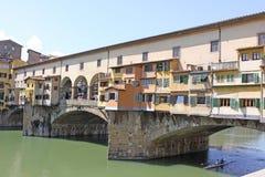 Włochy Vuew Ponte Vecchio w Florencja Fotografia Royalty Free