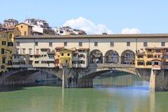 Włochy Vuew Ponte Vecchio w Florencja Zdjęcie Stock