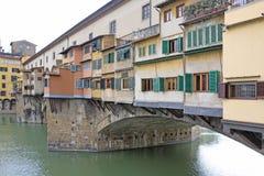 Włochy Vuew Ponte Vecchio w Florencja Zdjęcia Stock