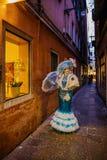 Włochy, Wenecja, Luty 25, 2017 Portret kobieta w carni Obraz Royalty Free