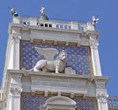 Włochy Wenecja Widok miasto Lew - symbol miasto Obrazy Royalty Free