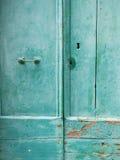 Włochy 2017 Zielony drzwi Obrazy Royalty Free