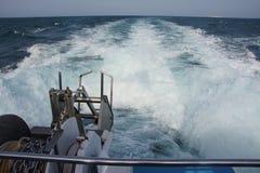 W łodzi od wyspy Tabarca fotografia stock