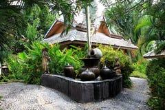 W Ogród botaniczny położeniu gliniany garncarstwo Zdjęcie Royalty Free