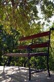 W ogródzie ławka Obrazy Royalty Free