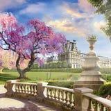 W ogródzie louvre obraz royalty free