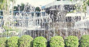 W ogródzie wodna fontanna zbiory wideo