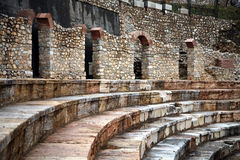 W Ohrid hellenistyczny theatre obraz stock