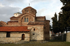 W Ohrid stary kościół Obrazy Royalty Free