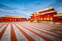 W Okinawa Shuri Kasztel fotografia stock