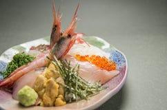 W okolicy nadplanowa wieprzowina Furong z piec na grillu Gozen, garnela, rybi fi obraz royalty free