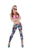 W okulary przeciwsłoneczne tancerz chłodno dziewczyna Zdjęcie Royalty Free