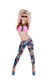 W okulary przeciwsłoneczne tancerz chłodno dziewczyna Zdjęcie Stock