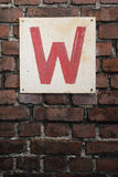 W Stock Photo