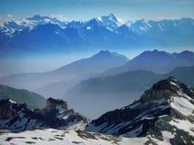 Włoscy Alps od Torino budy Obraz Royalty Free
