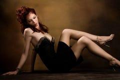włosiana czerwona kobieta Obrazy Royalty Free