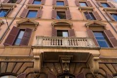 Włoska budynek fasada Obraz Royalty Free