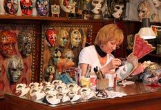 włoska mache producenta maska papier Zdjęcia Stock