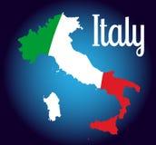 włoska mapa ilustracji
