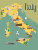włoska mapa ilustracja wektor