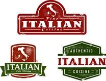 włoska restauracja stempluje rocznika Zdjęcia Stock