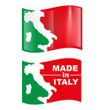 Włoska symbol flaga Zdjęcia Stock