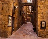 Włoska wioska volterra Zdjęcia Royalty Free