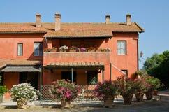 Włoski agriturismo w Tuscany Obraz Royalty Free