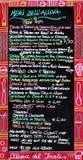 włoski menu Zdjęcia Stock
