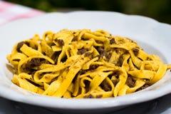Włoski naczynie: Tagliatelle z ragout Obraz Royalty Free