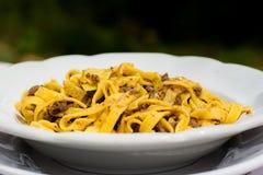 Włoski naczynie: Tagliatelle z ragout Zdjęcie Stock